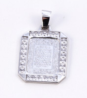 WHITE GOLD PENDANT, WGPEND006, 18K, Weight: 8.5g
