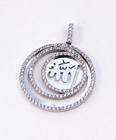 WHITE GOLD PENDANT, WGPEND009, 18K, Weight: 4g