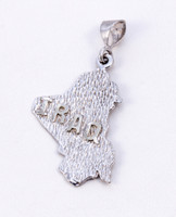 WHITE GOLD PENDANT, WGPEND011, 18K, Weight: 4g