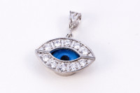 WHITE GOLD PENDANT, WGPEND016, 18K, Weight: 2g