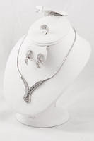 WHITE GOLD SET, WGSET001, 21K, Weight: 0g
