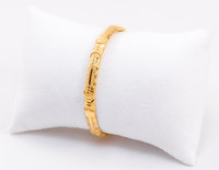 YELLOW GOLD BABY BANGLE, 21K, Size: Baby, Weight: 11g