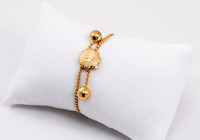 YELLOW GOLD BABY BANGLE, 21K, Size: Child Medium , Weight: 12.7g