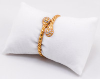YELLOW GOLD BABY BANGLE, 21K, Size: Child Medium , Weight: 14g