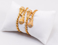 YELLOW GOLD BABY BANGLE, 21K, Size: Child Medium , Weight: 26.6g