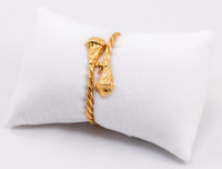 YELLOW GOLD BABY BANGLE, 21K, Size: Child Medium , Weight: 11.5g