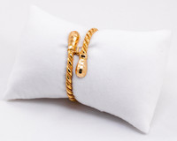 YELLOW GOLD BABY BANGLE, 21K, Size: Child Medium , Weight: 12.8g