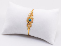 YELLOW GOLD BABY BANGLE, YGBaby0029, 21K, Size: Child Medium , Weight: 5g