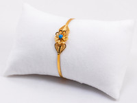 YELLOW GOLD BABY BANGLE, 21K, Size: Child Medium , Weight: 8.1g