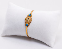 YELLOW GOLD BABY BANGLE, YGBaby0031, 21K, Size: Baby Medium , Weight: 7.4g