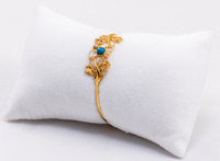 YELLOW GOLD BABY BANGLE, YGBaby0032, 21K, Size: Child Medium , Weight: 5.7g