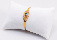 YELLOW GOLD BABY BANGLE, YGBaby0033, 21K, Size: Child Medium , Weight: 6.8g