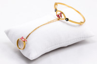 YELLOW GOLD BABY BANGLE, 21K, Size: Child Small, Weight: 8.4g