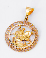 YELLOW GOLD PENDANT, 21K, Weight: 3.41g, YGPEND0086