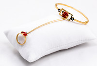 YELLOW GOLD BABY BANGLE, YGBaby0036, 21K, Size: Child Small, Weight: 9.6g