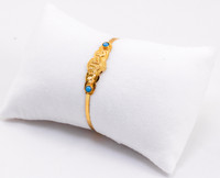 YELLOW GOLD BABY BANGLE, YGBaby0038, 21K, Size: Child Medium , Weight: 7.7g