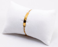 YELLOW GOLD BABY BANGLE, YGBaby0039, 21K, Size: Child Small, Weight: 3.5g