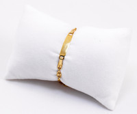 YELLOW GOLD BABY BANGLE, YGBaby0040, 21K, Size: Child Medium , Weight: 6.4g