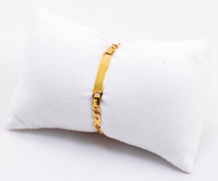 YELLOW GOLD BABY BANGLE, YGBaby0042, 21K, Size: Child Small, Weight: 7g