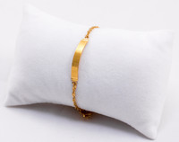 YELLOW GOLD BABY BANGLE, YGBaby0044, 21K, Size: Child Medium , Weight: 3.5g