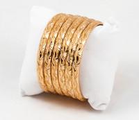 YELLOW GOLD BANGLES, SET OF 6, 21K, Size: Medium , Weight: 54.9g, YGBANGLE001