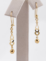YELLOW GOLD EARRINGS, 21KT, Weight: 2.24g, YGEARRING21K0060