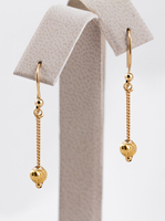 YELLOW GOLD EARRINGS, 21KT, Weight: 2.24g, YGEARRING21K0063