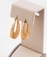 YELLOW GOLD EARRINGS, 21KT, Weight: 4.5g, YGEARRING21K0090