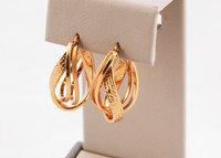 YELLOW GOLD EARRINGS, 21KT, Weight: 8.1g, YGEARRING21K0091