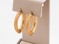 YELLOW GOLD EARRINGS, 21KT, Weight: 8.6g, YGEARRING21K0092