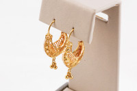YELLOW GOLD EARRINGS, 21KT, Weight: 5.3g, YGEARRING21K0096