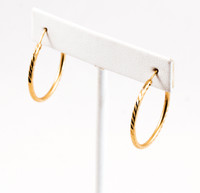 YELLOW GOLD EARRINGS, 21KT, Weight: 3.5g, YGEARRING21K00102
