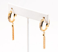 YELLOW GOLD EARRINGS, 21KT, Weight: 5.6g, YGEARRING21K00103