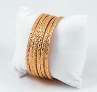 YELLOW GOLD BANGLES, SET OF 6, 21K, Size: Large, Weight: 43.4g, YGBANGLE009