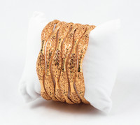 YELLOW GOLD BANGLES, SET OF 6, 21K, Size: Large, Weight: 72.3g, YGBANGLE019