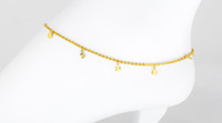 YELLOW GOLD ANKLETS, 21K, YGANKL024, Weight: 3.6g