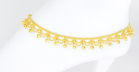 YELLOW GOLD ANKLETS, 21K, YGANKL027, Weight: 17.5g
