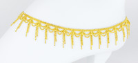 YELLOW GOLD ANKLETS, 21K, YGANKL028, Weight: 16.1g