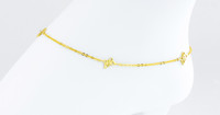 YELLOW GOLD ANKLETS, 21K, YGANKL035, Weight: 3.9g