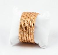YELLOW GOLD BANGLES, SET OF 6, 21K, Size: Large, Weight: 55.8g, YGBANGLE036