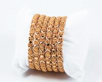 YELLOW GOLD BANGLES, SET OF 6, 21K, Size: Medium, Weight: 81.6g, YGBANGLE041