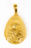 YELLOW GOLD PENDANT, 21K, Weight:4.6g, YGPEND0256