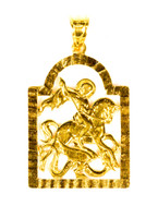 YELLOW GOLD PENDANT, 21K, Weight:2.8g, YGPEND0257