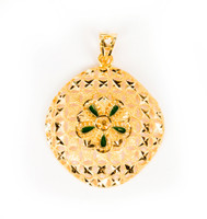 YELLOW GOLD PENDANT, 21K, Weight:4g, YGPEND0300
