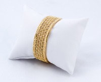 YELLOW GOLD INDIAN STYLE BANGLES, 21K, Size: Medium, Weight: 27.7g