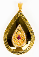 YELLOW GOLD PENDANT, 21K, Weight:9.6g, YGPEND0329