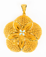 YELLOW GOLD PENDANT, 21K, Weight:14.4g, YGPEND0334