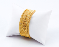 YELLOW GOLD INDIAN STYLE BANGLES, 21K, Size: Large, Weight: 44.2g