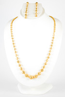 YELLOW GOLD NECKLACE, YG21KNECKLACE045, Size:Large, Weight:57.8g