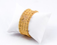 YELLOW GOLD INDIAN STYLE BANGLES, 21K, Size: Large, Weight: 59.6g